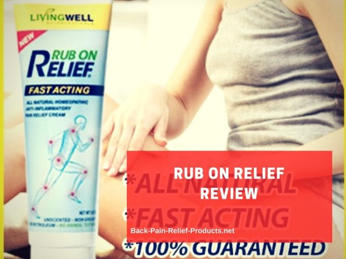 Living Well rub on relief review